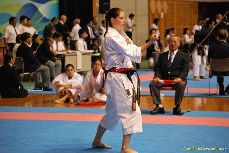 Petra Židková  na soutěži na Okinawě